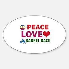 Peace Love Barrel Race Designs Decal