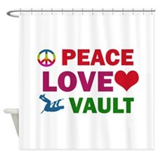 Peace Love Vault Designs Shower Curtain