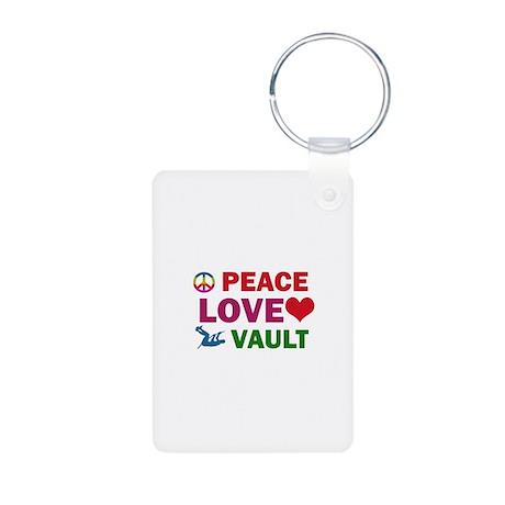 Peace Love Vault Designs Aluminum Photo Keychain