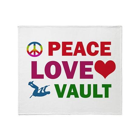 Peace Love Vault Designs Throw Blanket