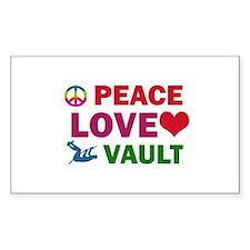 Peace Love Vault Designs Decal