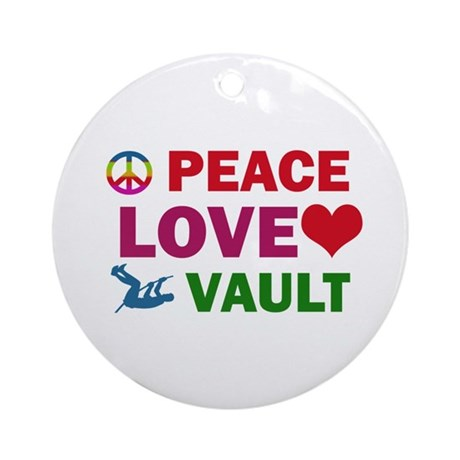 Peace Love Vault Designs Ornament (Round)