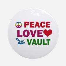 Peace Love Vault Designs Ornament (Round)