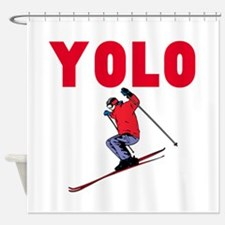 Yolo Skiing Shower Curtain