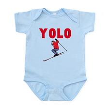 Yolo Skiing Infant Bodysuit