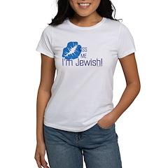 Kiss Me I'm Jewish Women's T-Shirt