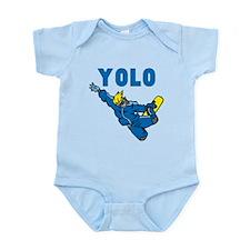 Yolo Snowboarding Infant Bodysuit
