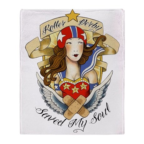 Derby Saved My Soul Throw Blanket