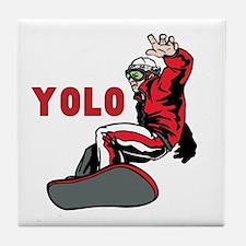 Yolo Snowboarding Tile Coaster
