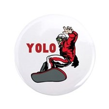 "Yolo Snowboarding 3.5"" Button"