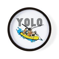 Yolo River Rafting Wall Clock