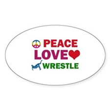 Peace Love Wrestle Designs Decal