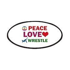 Peace Love Wrestle Designs Patches