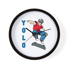 Yolo Skateboarding Wall Clock