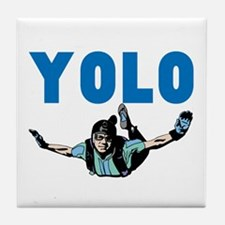 Yolo Skydiving Tile Coaster