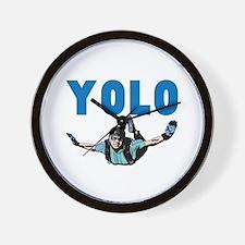 Yolo Skydiving Wall Clock