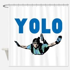 Yolo Skydiving Shower Curtain