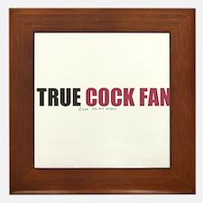 A True Cock Fan Framed Tile