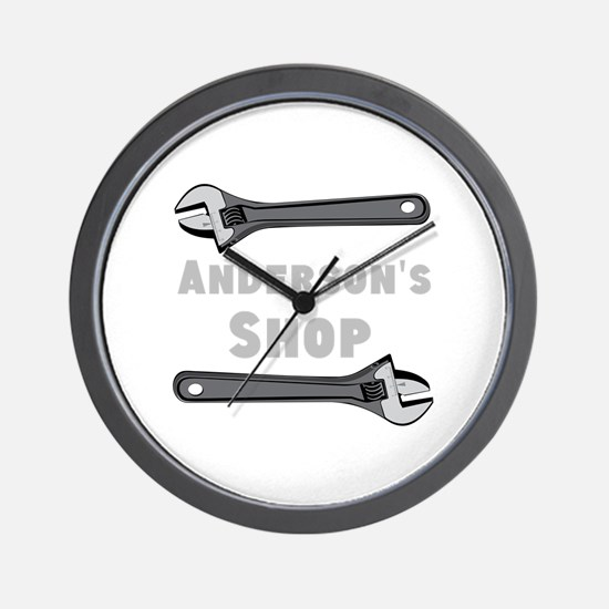 Personalized Shop Wall Clock