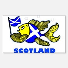 Scotland Fish, Fabspark Sticker (Rectangle)