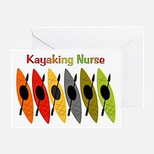 Kayaking Nurse.PNG Greeting Card