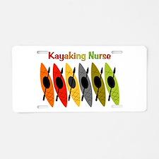 Kayaking Nurse.PNG Aluminum License Plate