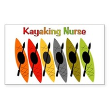 Kayaking Nurse.PNG Decal