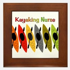 Kayaking Nurse.PNG Framed Tile