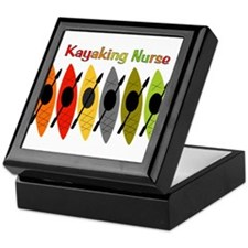 Kayaking Nurse.PNG Keepsake Box