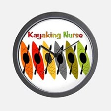 Kayaking Nurse.PNG Wall Clock