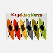 Kayaking Nurse.PNG Rectangle Magnet