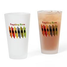 Kayaking Nurse.PNG Drinking Glass