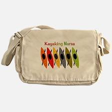 Kayaking Nurse.PNG Messenger Bag