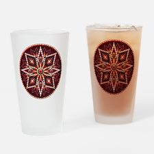 Native American Rosette 14 Drinking Glass
