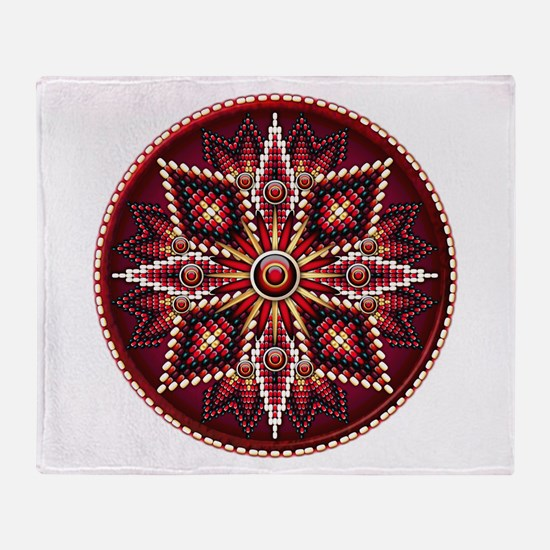 Native American Rosette 14 Throw Blanket