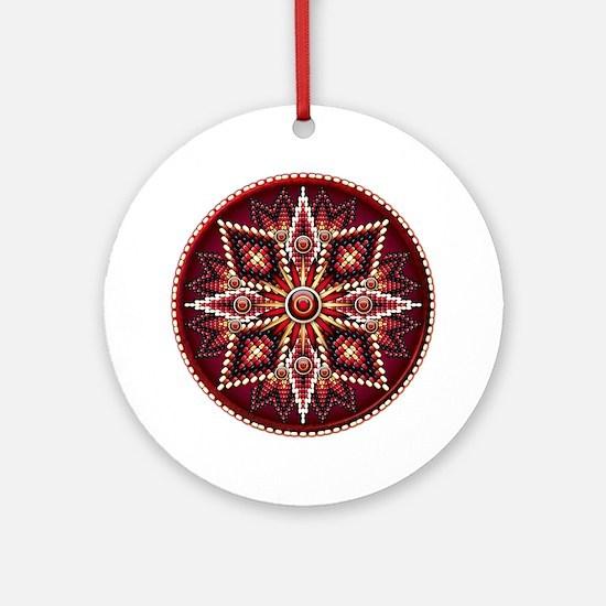 Native American Rosette 14 Ornament (Round)