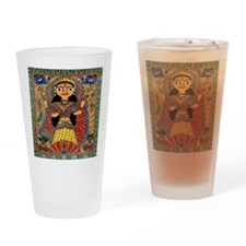 Hindu Folkart Drinking Glass
