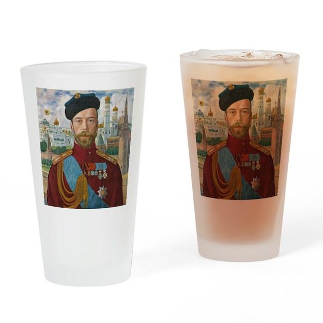 Tsar Nicholas II Drinking Glass By Ethnocentric