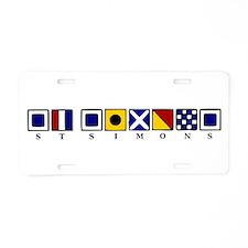 St. Simons Aluminum License Plate