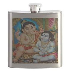 Ganesh and Krishna Flask