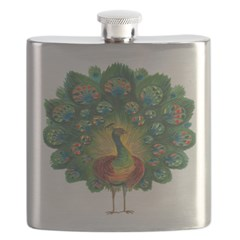 Proud Peacock Flask