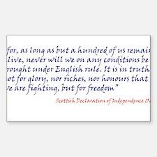 Scottish Independance Sticker (Rectangle)