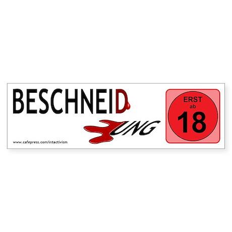 """""""Beschneidung-18"""" Sticker (Bumper)"""