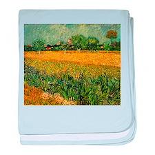 Van Gogh View of Arles with Irises baby blanket
