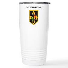 Fort Leonard Wood with Text Ceramic Travel Mug