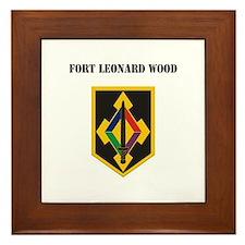 Fort Leonard Wood with Text Framed Tile
