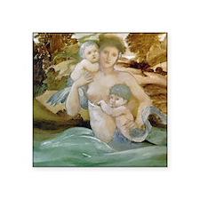 Edward Burne Jones Mermaid Offspring Square Sticke