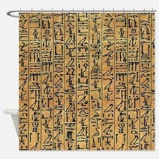 Papyrus Hieroglyphic Shower Curtain