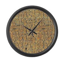 Papyrus Hieroglyphic Large Wall Clock