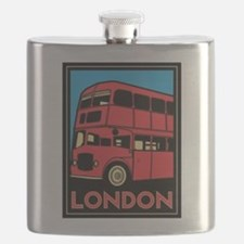Funny London bus Flask